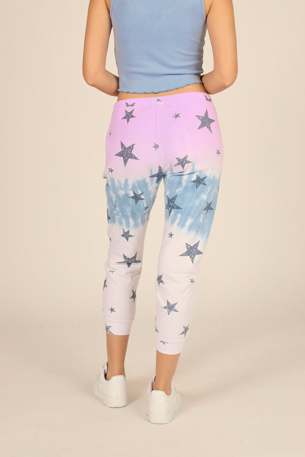 Lavender/Blue Ombre Star Print Joggers