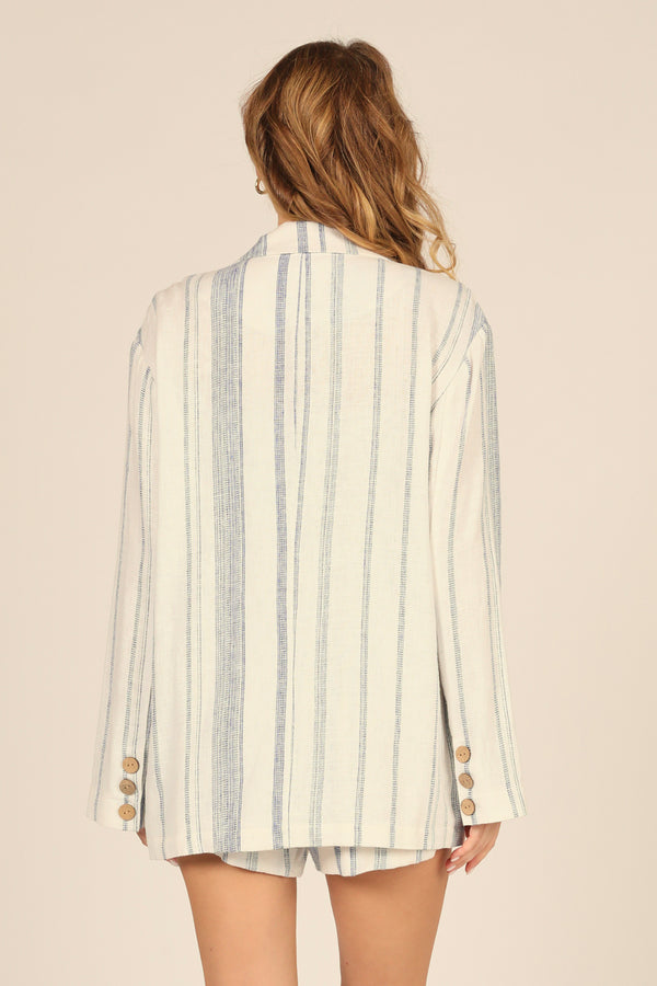 Sailor Stripe Linen Blend Blazer