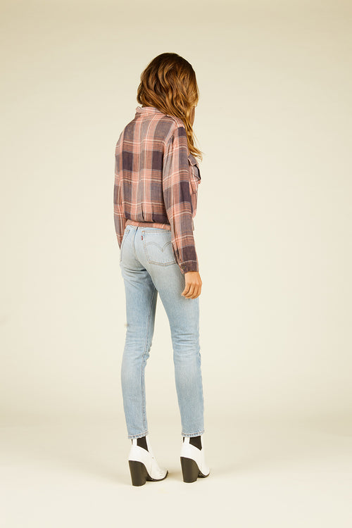 Noemi Plaid Jacket Style Shirt