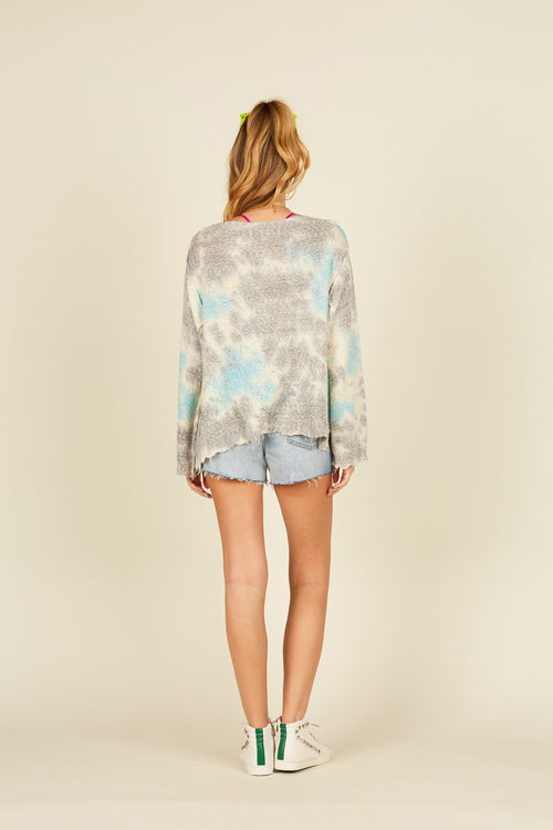 Tie Dye Ripped Sweater
