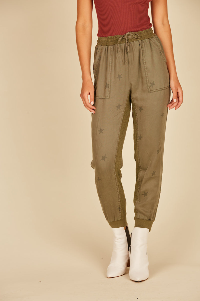 Winter Olive Star Jogger