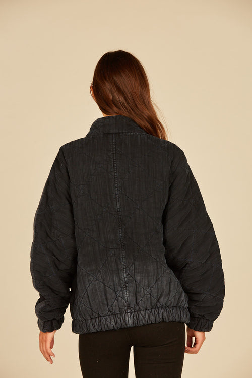 Deep Indigo Quilted Tencel Jacket