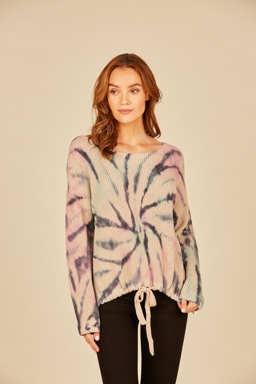 Winter Pastel Swirl Tie Dye Sweater