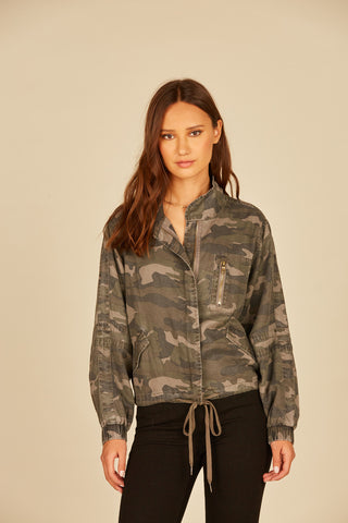 Black Camo Reversible Teddy Bear Jacket