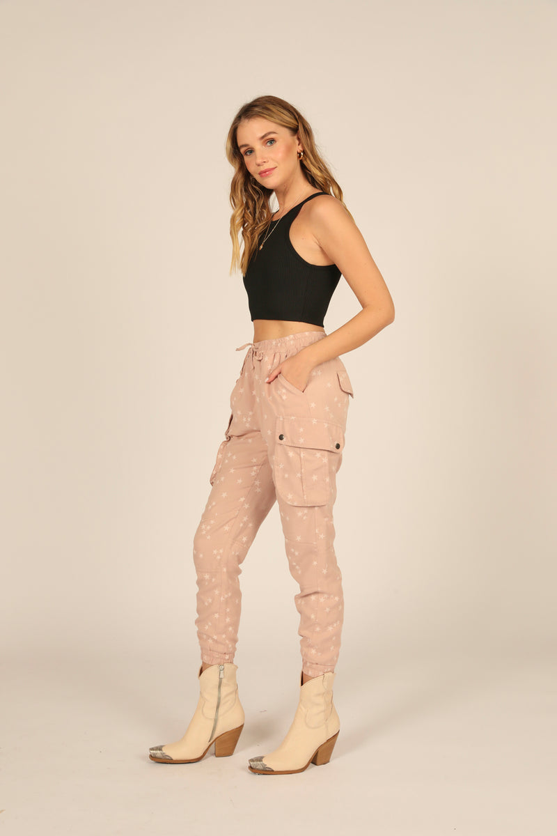 Washed Mauve Tencel Jogger
