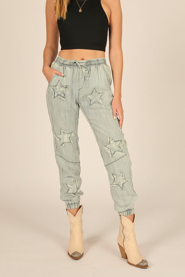 Denim Wash Tencel Jogger