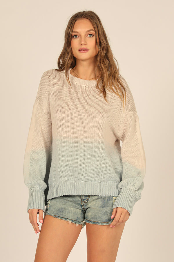Dip Dye Crewneck Sweater