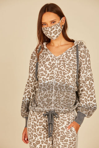 Brushed Leopard Cold Shoulder Blouse