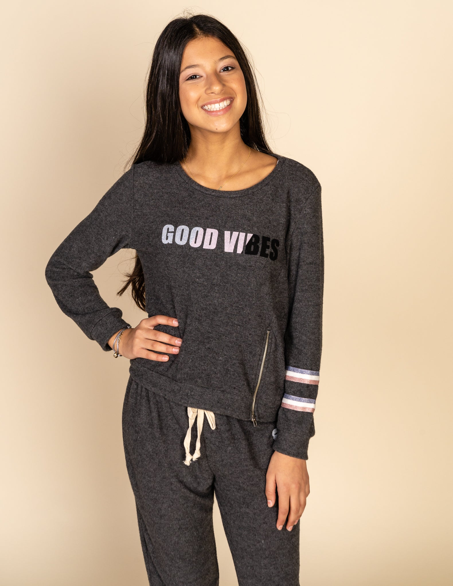 Good Vibes Striped Jogger Pants