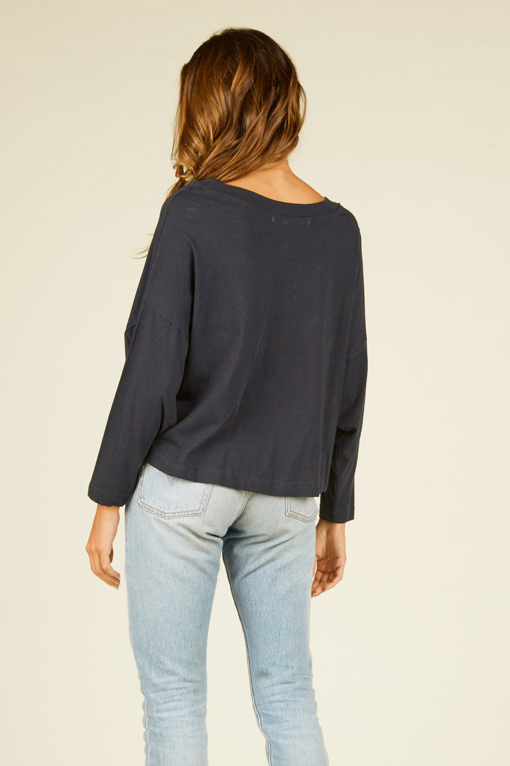 "Navy ""Easy Like Sunday"" Graphic Top"