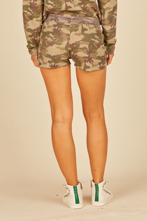Green/Grey Camo Thermal Lounge Shorts