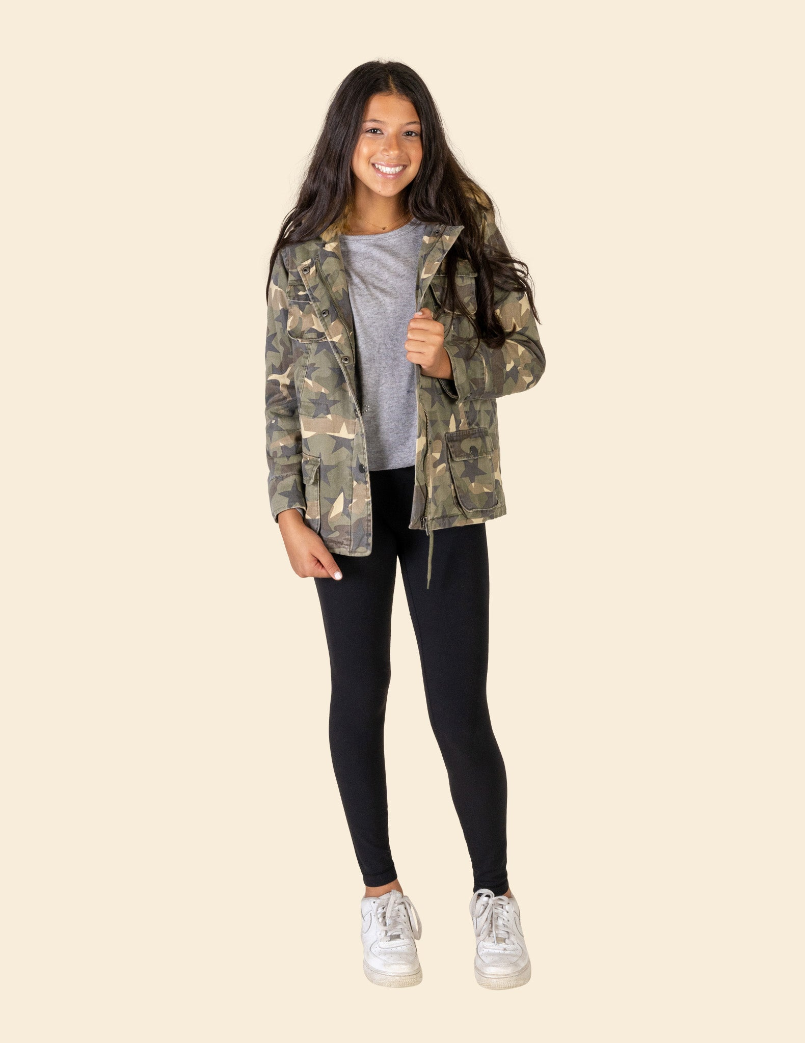 Camo Star Fur Lined Field Jacket