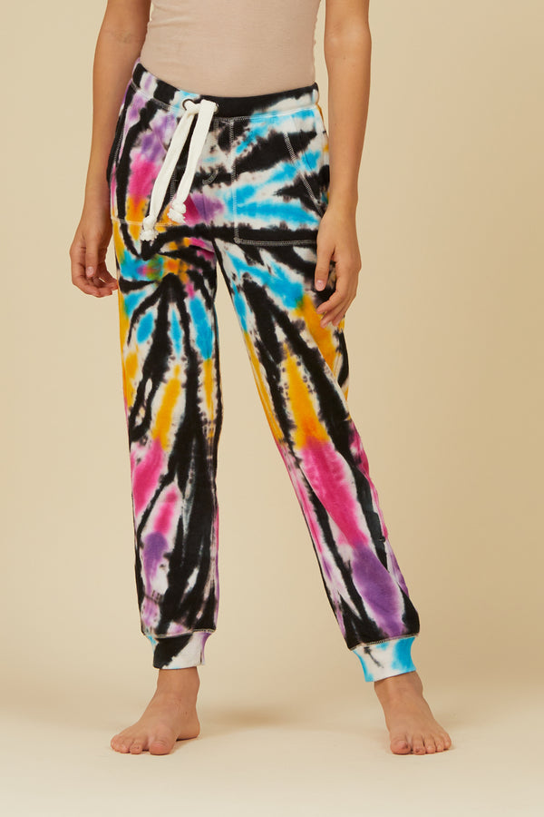 BOARDWALK TIE DYE BURNOUT FLEECE JOGGER