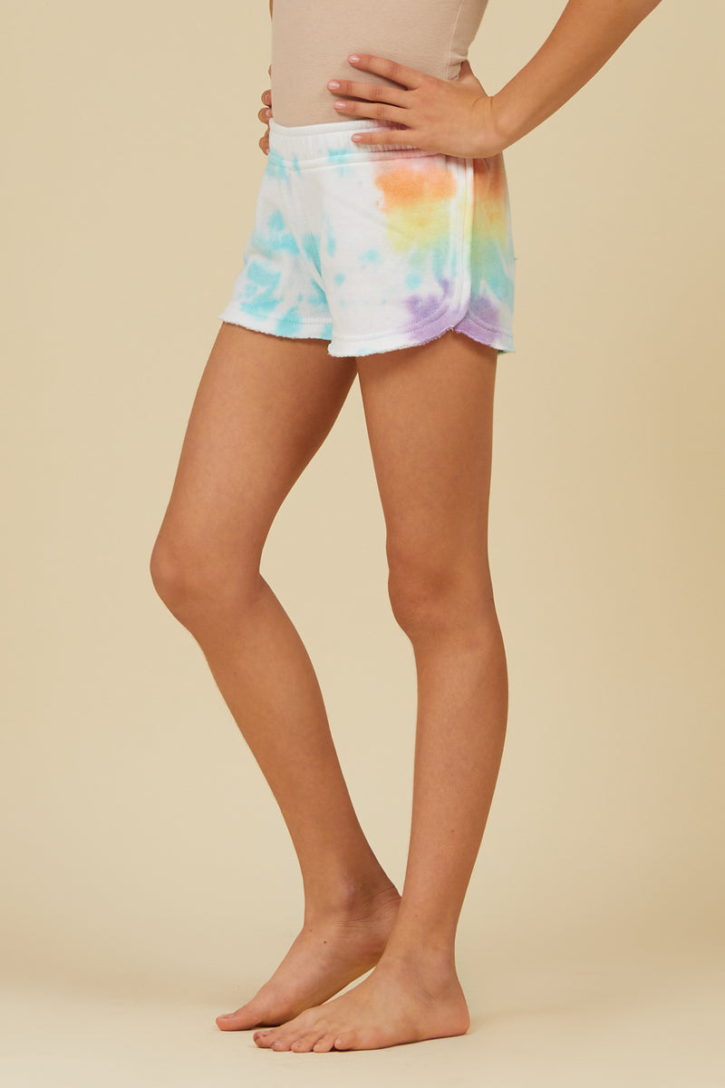 LOLLIPOP TIE DYE SHORTS