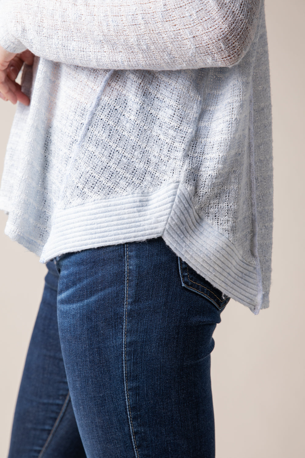 Soft Blue V-Neck Light Weight Sweater