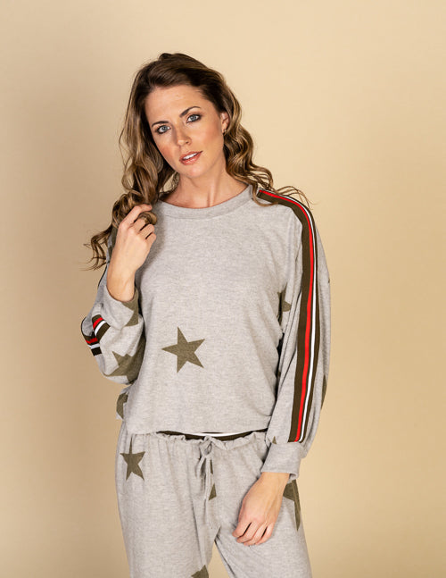 Star Print Hacci Top