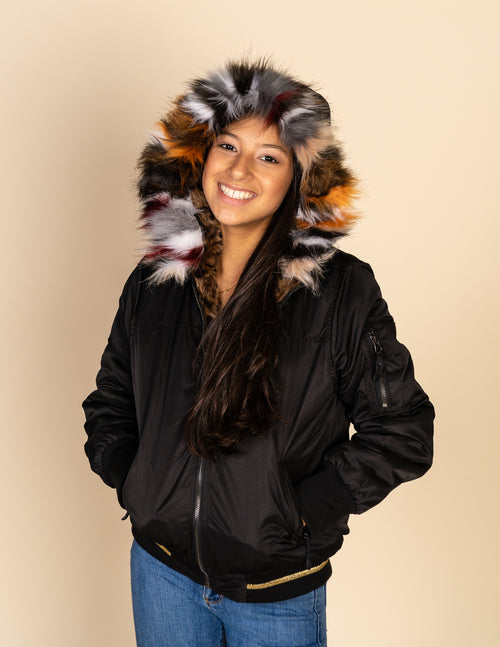 Reversible Leopard Fur Bomber Jacket
