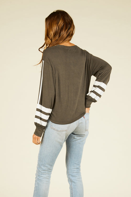 Washed Black Lightweight Top