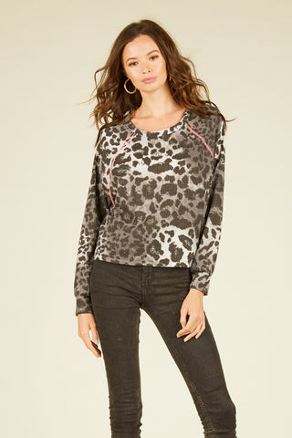 Pink Mini Leopard Crop Top