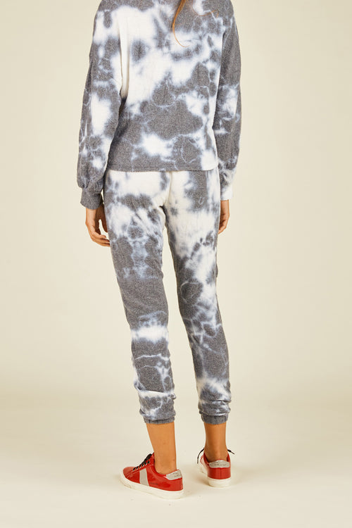 "Navy Tie Dye ""Dreamer"" Graphic Jogger"