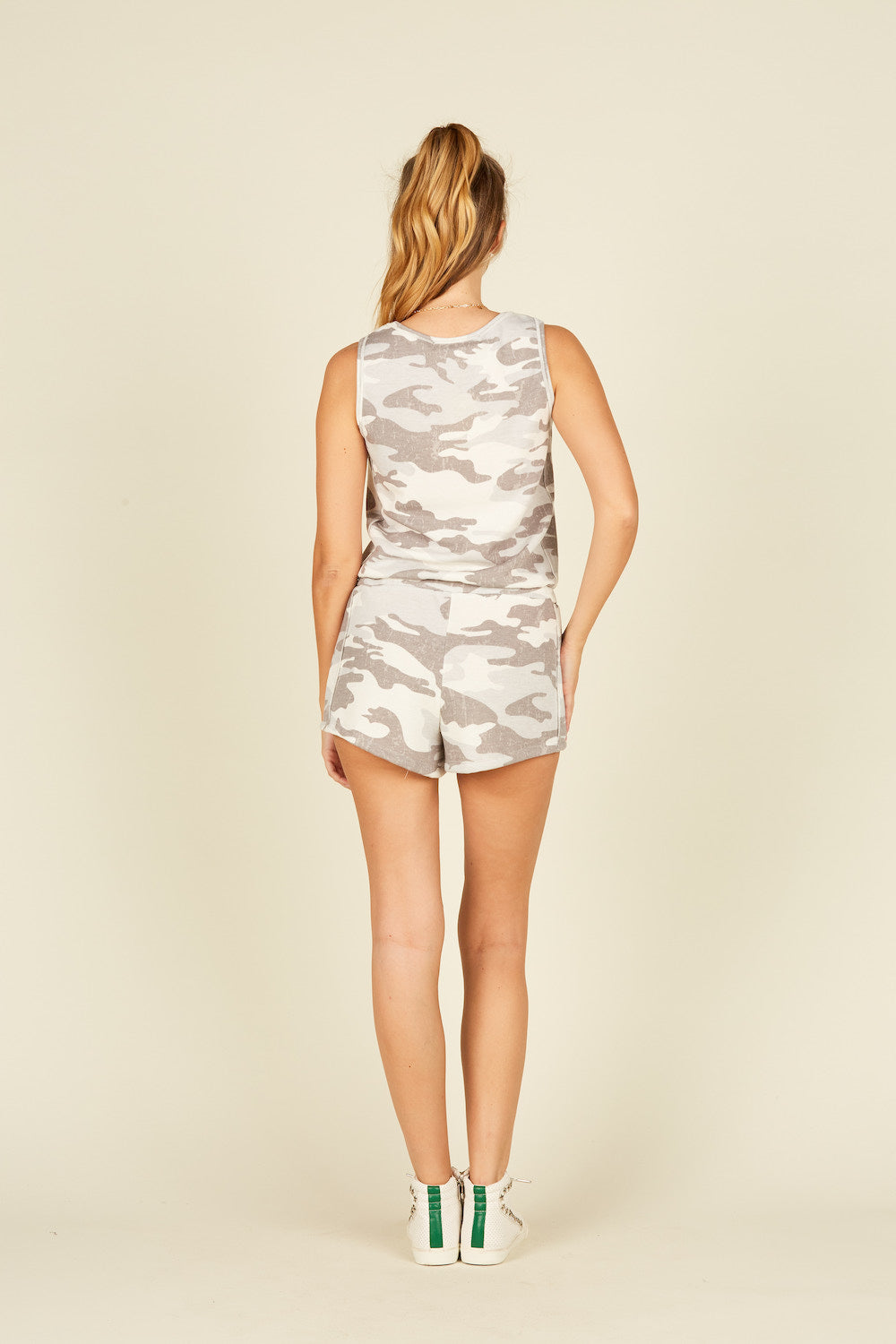 Summer Grey Camo Romper