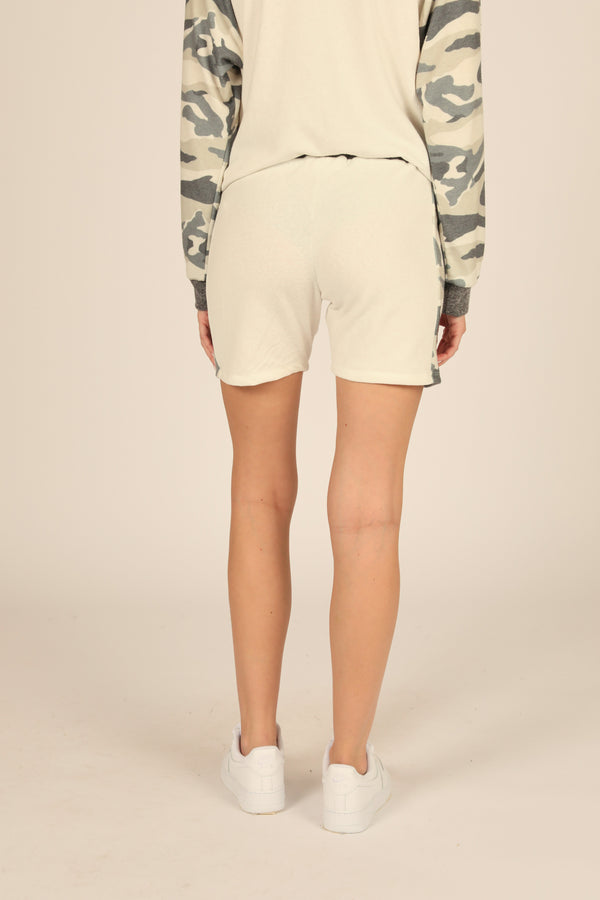 Camo Colorblock Boyfriend Short