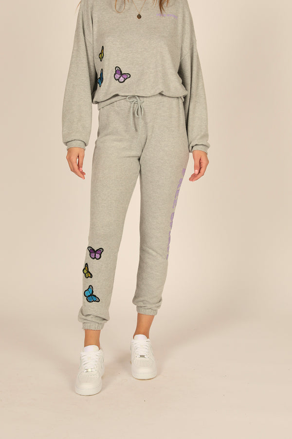 Free Spirit Butterfly Patch Jogger