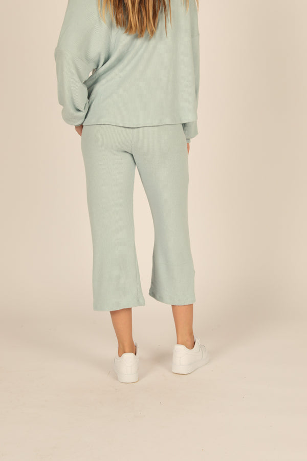 Chambray Brushed Hacci Gaucho Pant
