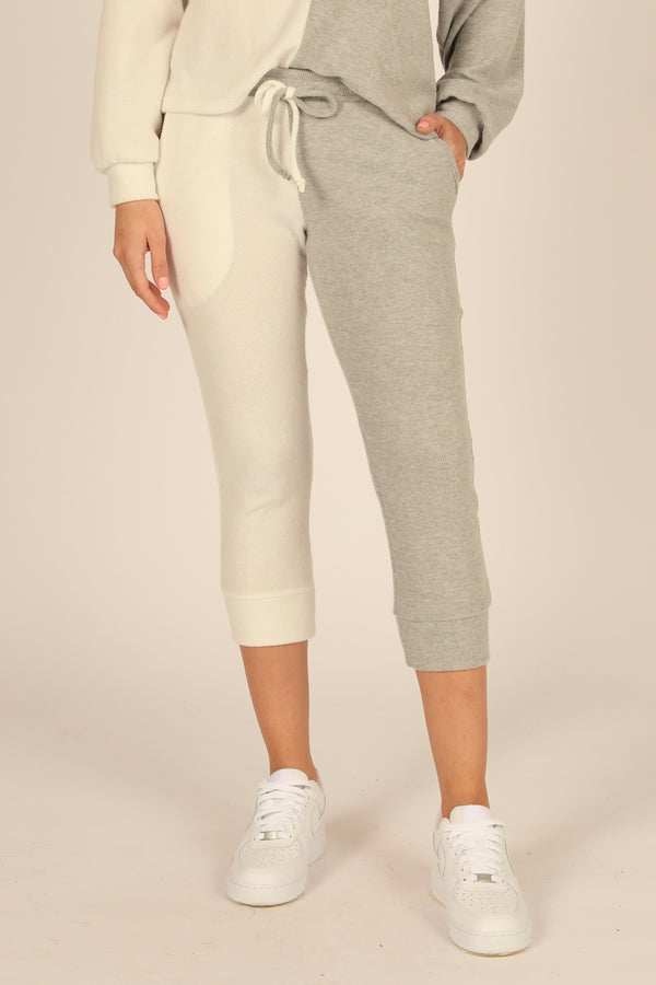 Brushed Hacci Rib Split Jogger