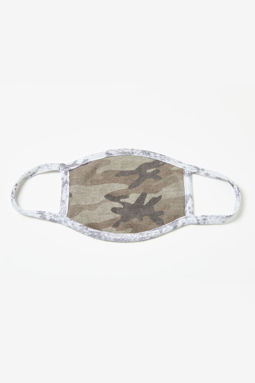 Grey Camo/ Heather Grey Brown Snakeskin Print Face Mask - 3 Pack