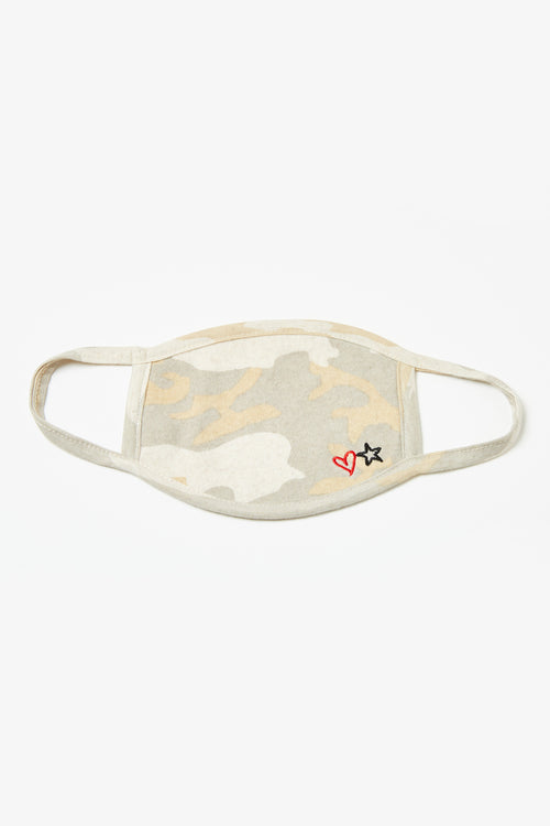 Light Camo Print Face Mask - 3 Pack