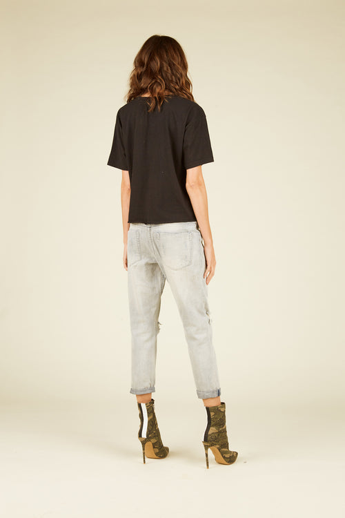 Light Denim Slouchy Jogger Pants