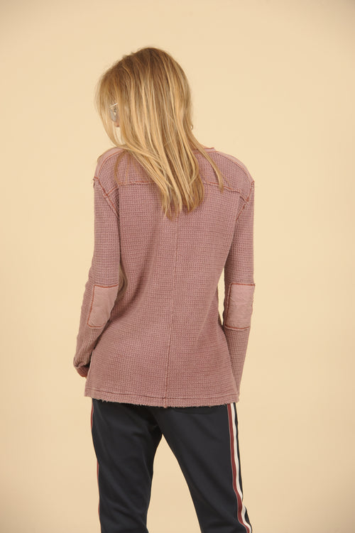 Thermal Patch Henley Top