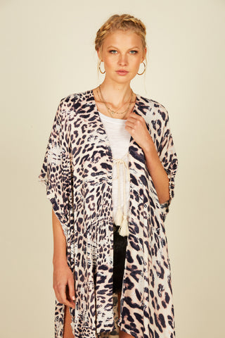 Leopard Print Twill Button Down