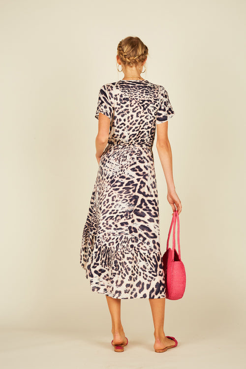 Brushed Leopard Maxi Dress