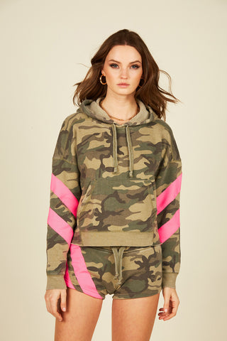 OLIVE CAMO BRUSHED FLEECE HOODY