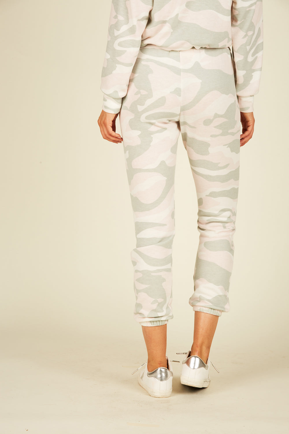 Soft Pink Camo Fleece Joggers