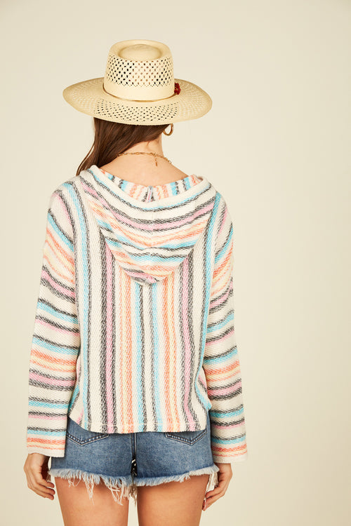 Candy Stripe Boxy Crop Baja