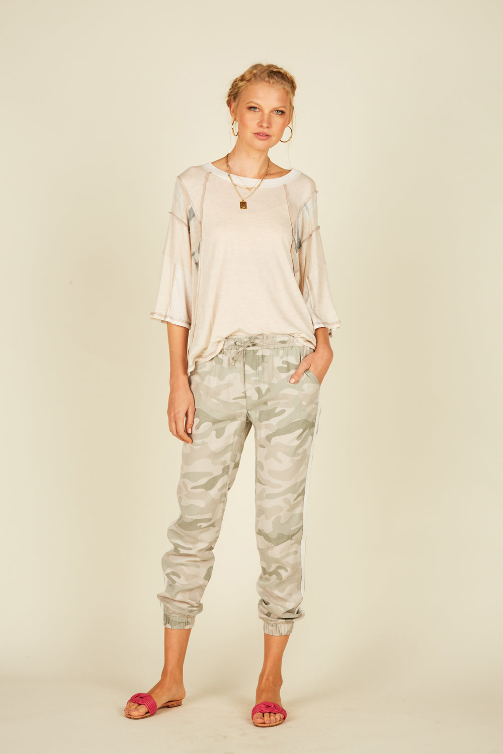 Summer Camo Tencel Cargo Pants