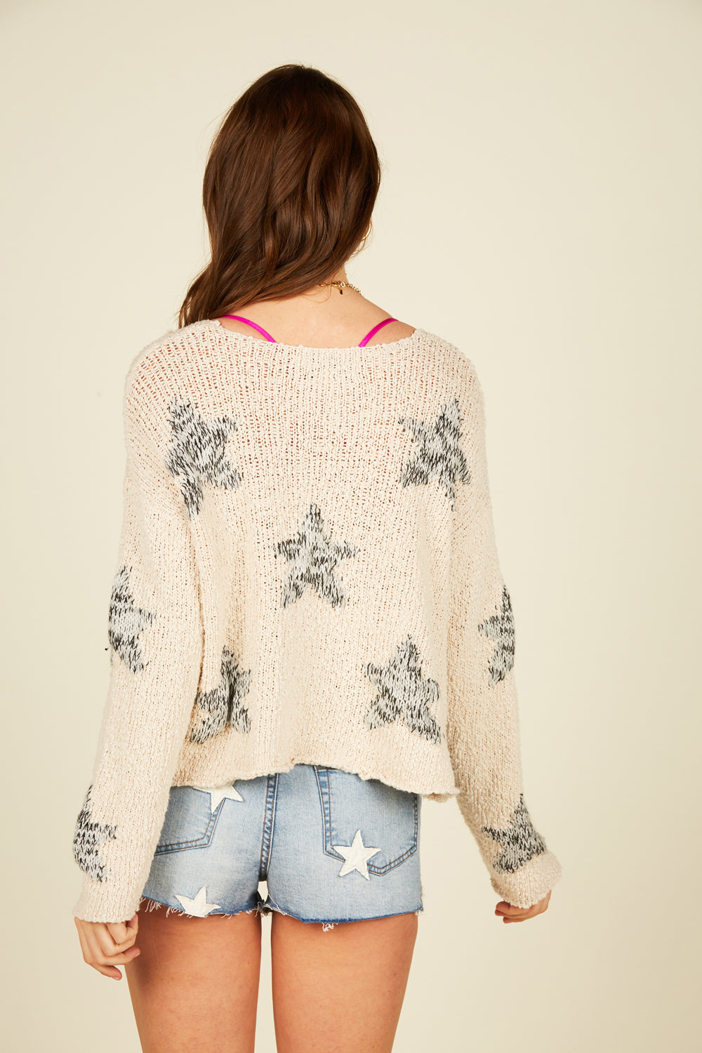 Pastel Multi Star Sweater