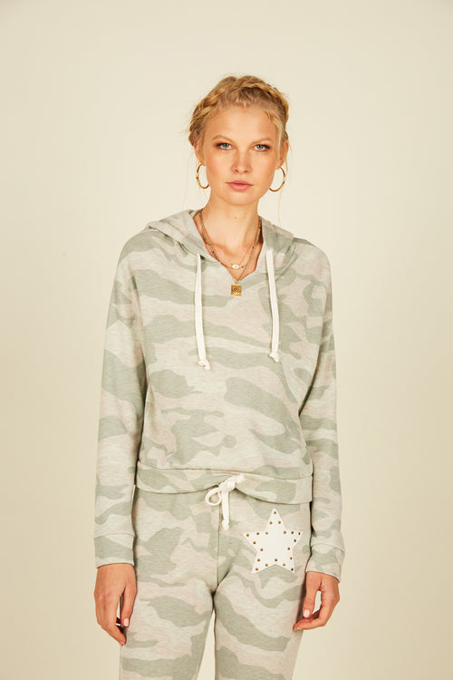 Pastel Camo Star Patch Hoodie