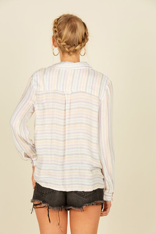 Pastel Candy Striped Shirt