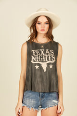 """Texas Nights"" Graphic Tank"