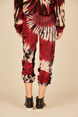 Vino Swirl Tie Dye French Terry Joggers