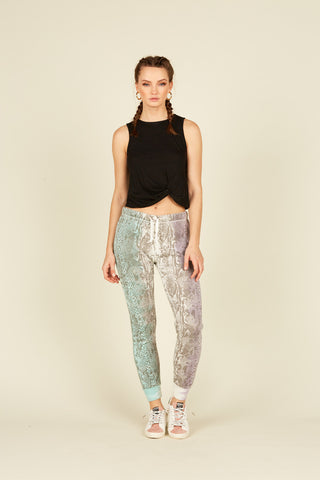 Placement Tie Dye Paperbag Waist Pants