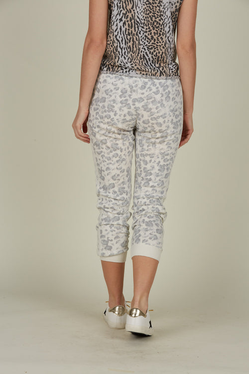 Grey Soft Leopard Joggers