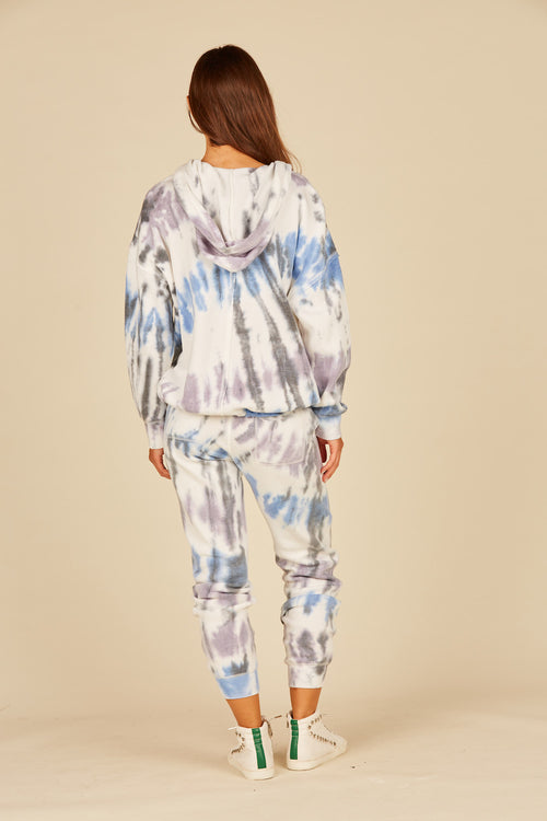 Diagonal Seaside Tie Dye Pocket Joggers