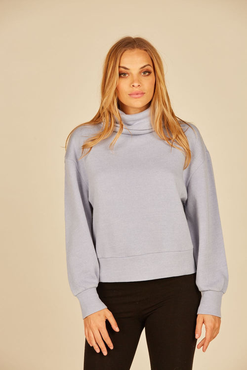Blue Lavender Burnout Cowlneck