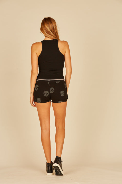 Skull Print Thermal Lounge Short