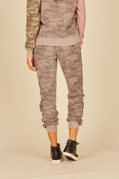 Grey/Pink/Green Reverse Burnout Tricolor Camo Jogger